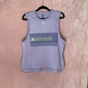 NWT Adidas By Stella McCartney Logo Mesh Tank Top
